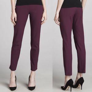 Theory Belisa Basis Skinny Ankle Pants in Syrah 2